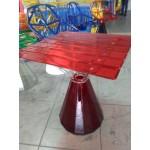 Дизайнерский стол в сборе (прозрачный)