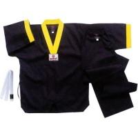 Униформа для таэквондо черная, рост от 130 до 180 см.