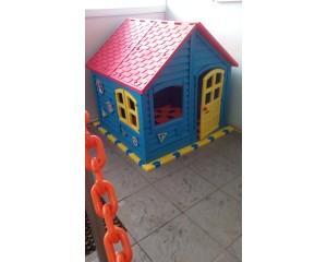 Акция! Домик детский игровой для дома и улицы вместе с пазловым дном!