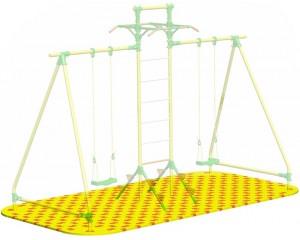 Puzzle Playground для качелей парных с лестницей c турниками Leco-IT Outdoor 1,9 х 3,9 м