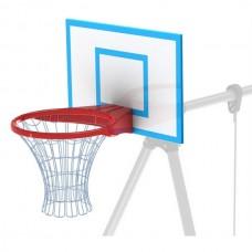 Щит баскетбольный с кольцом и поликарбонатовой сеткой Leco-IT Street