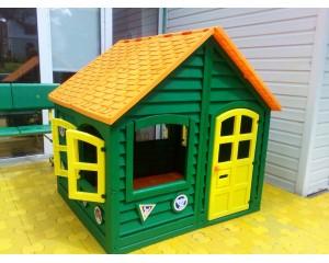 Домик детский Леко для улицы и для дома зеленый.
