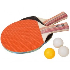 Ракетки для настольного тенниса Хобби, пара с 3-мя мячиками