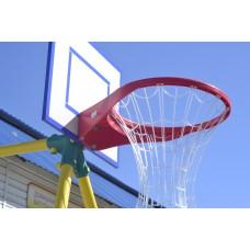 Щит баскетбольный с кольцом и поликарбонатовой сеткой Leco-IT Outdoor