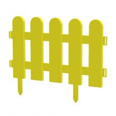 Пластиковый заборчик для грядок, выс. 24 см, ширина 32 см, 1 шт. желтый