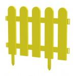 Пластиковый заборчик для грядок, выс. 32 см, ширина 32 см, 10 шт. желтый