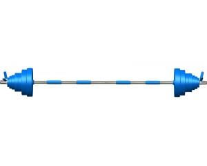 Штанга Leco-IT Pro на диам. 30 мм, 180 см, 110 кг