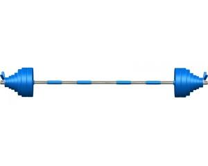 Штанга Leco-IT Pro на диам. 30 мм, 180 см, 128 кг
