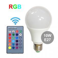 Лампа RGB 10 Вт E27 с пультом управления