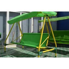 Качели дачные трехместные Leco-IT 300 Green