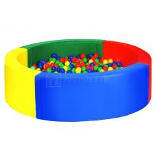 Круглый сухой бассейн четырехцветный