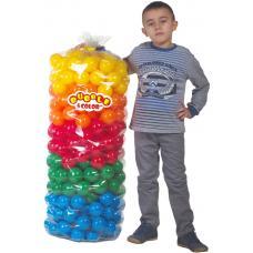 """Шарики для манежа-бассейна в прозрачном чехле диам. 3"""" (7,5 см) 320 шт. 5 цветов"""