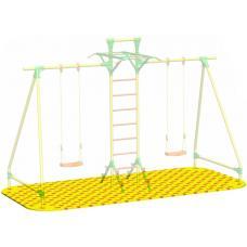 Puzzle Playground для качелей парных с лестницей Leco-IT Street 2,2 х 4,2 м