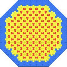 Пазловое дно для большого детского манежа Leco-IT Street диам. 270 см