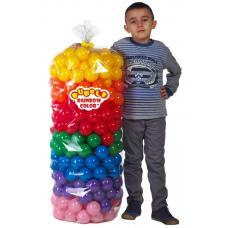 """Шарики для манежа-бассейна в прозрачном чехле диам. 3"""" (7,5 см) 320 шт. 7 цветов"""