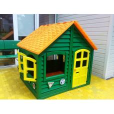 Домик детский для улицы и для дома зеленый.