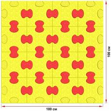 Пазловое дно для детского манежа Leco-IT Home 100 х 100 см