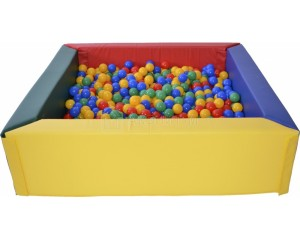Квадратный сухой бассейн размеры от 120х120х30х15