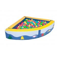 Угловой сухой бассейн + ШАРИКИ!!!(135х135х30х15)