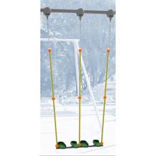 Качели для качания стоя двойные на высоту подвеса 325 см. в сборе