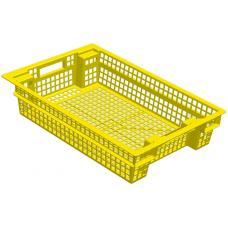 Ящик для овощей 60 х 40 х 13 см из первичного полиэтилена желтый
