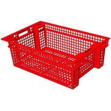 Ящик для овощей 60 х 40 х 20 см из первичного полиэтилена красный
