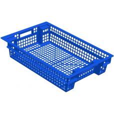 Ящик для овощей 60 х 40 х 13 см из первичного полиэтилена синий