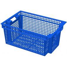 Ящик для овощей 60 х 40 х 27 см из первичного полиэтилена синий