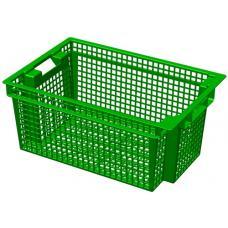 Ящик для овощей 60 х 40 х 27 см из первичного полиэтилена зеленый