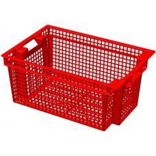 Ящик для овощей 60 х 40 х 27 см из первичного полиэтилена красный