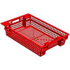 Ящик для овощей 60 х 40 х 13 см из первичного полиэтилена красный