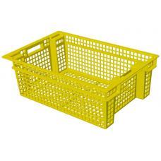 Ящик для овощей 60 х 40 х 20 см из первичного полиэтилена желтый