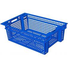 Ящик для овощей 60 х 40 х 20 см из первичного полиэтилена синий