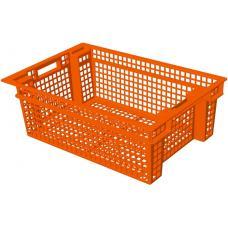 Ящик для овощей 60 х 40 х 20 см из первичного полиэтилена оранжевый
