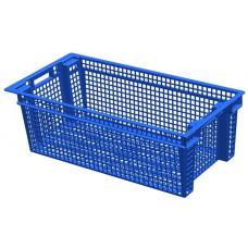 Ящик для овощей 80 х 40 х 27 см из первичного полиэтилена синий