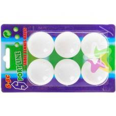 Мячики для настольного тенниса 6 шт