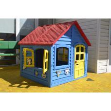 Домик красно-сине-желтый 120 х 120 см