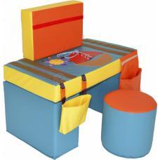 Дидактический стол из мягких модулей и пуф