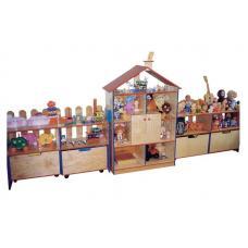 """Стенка для игрушек """"Домик"""" (3 секции)"""