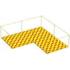 Пазловое дно для детского манежа Leco-IT Home 250 х 250 см Г-образного