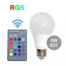 Лампа RGB 5 Вт E27 с пультом управления
