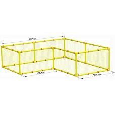 Большой детский манеж Leco-IT Home 250 х 250 см Г-образный