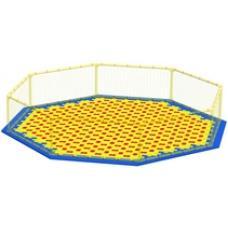Пазловое дно для большого детского манежа Leco-IT Street диам. 390 см