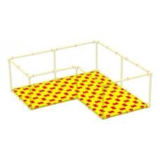 Пазловое дно для детского манежа Leco-IT Home 200 х 200 см Г-образного