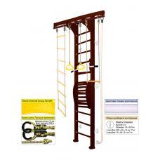 Домашний спортивный комплекс Kampfer Wooden ladder Maxi Wall (№5 Шоколадный Высота 3 м белый)