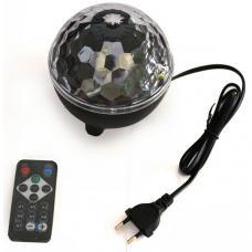 Диско-фонарь RGB 10 Вт с пультом управления