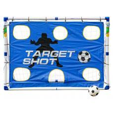 Разборные футбольные ворота с тренировочными сетками «Madcador 3 в 1» (сетка-мишень, сетка-отражатель)