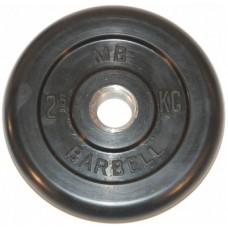 Диск обрезиненный 51 мм 2.5 кг