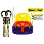 Детские пластиковые качели 3в1 Kampfer (синий/желтый/красный)